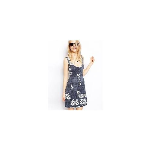 ASOS Sundress In Aztec Print With Button Front