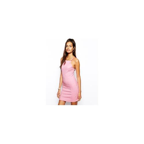 The Laden Showroom X Renee London Quilted Strappy Dress - Pink