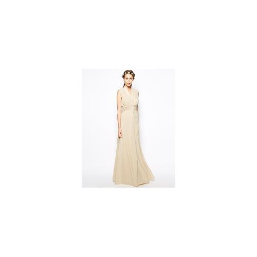 Jarlo Vicky Button Through Maxi Dress with Lace Insert