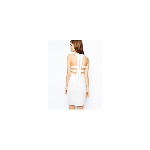 Y.A.S Catte Dress with Open Zipped Back - Whisper white