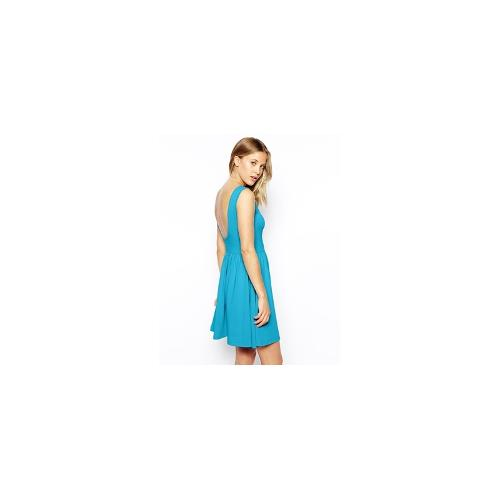 ASOS Mini Sundress with Scoop Back - Bright blue