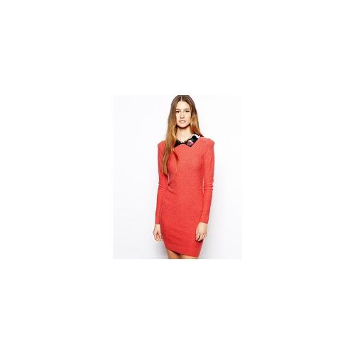 Sonia by Sonia Rykiel Dress in Cashmere Mix with Embellished Collar