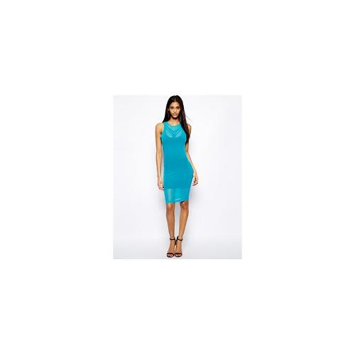 Selfish By Forever Unique Bodycon Dress with Strap Detail - Blue
