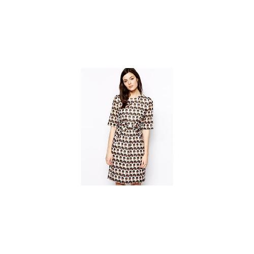 Peter Jensen Diana Ross Dress with Knot Front