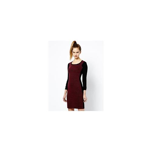 French Connection Olivia Textured Dress with Front Panel