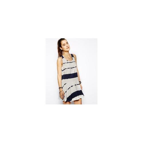 Eleven Paris Dress with Stripe - Navy
