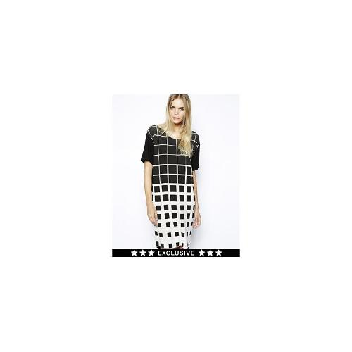 Y.A.S Exclusive to ASOS Dress in Grid Print - Black/white