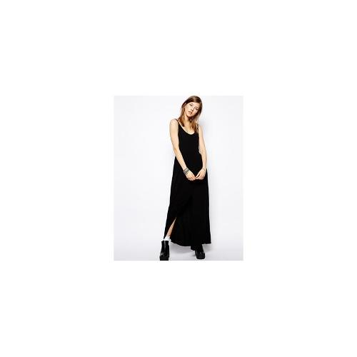 Minkpink Shadow Place Strappy Maxi Dress - Black