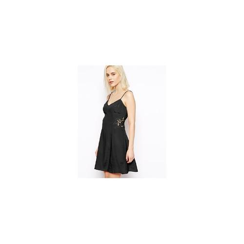 ASOS Cami Sundress With Lace Inserts - Black