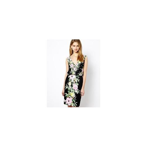French Connection Fitted Dress in Desert Tropicana Print