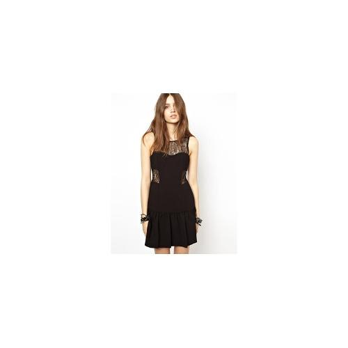 BCBGeneration Dress with Lace Detail and Flippy Skirt