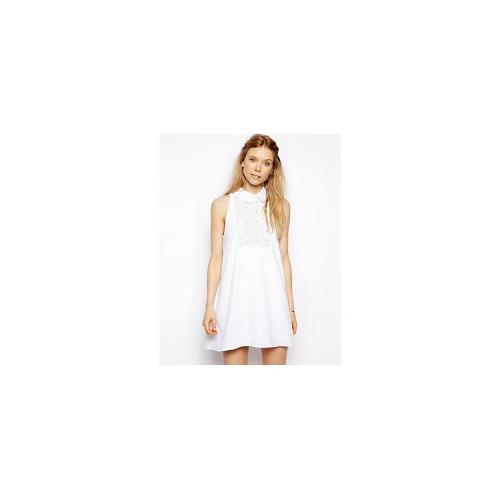 Little White Lies Swing Dress With Sequin Daisy - White