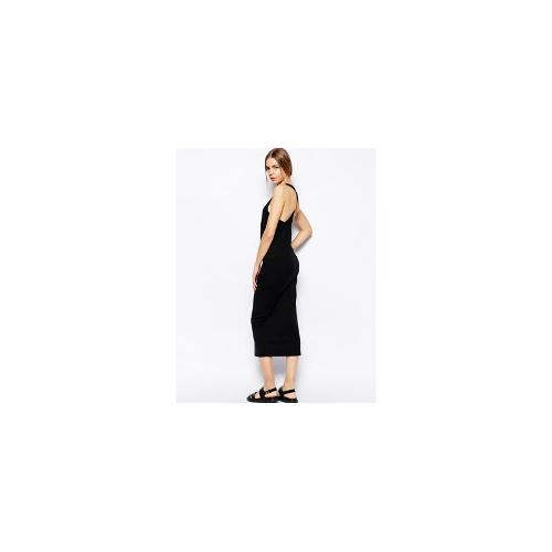 Selected Ally Maxi Dress with Racer Back Detail - Black