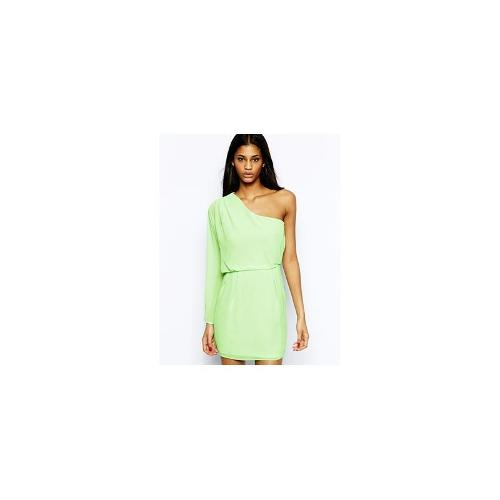 ASOS Drape One Shoulder Dress - Mint