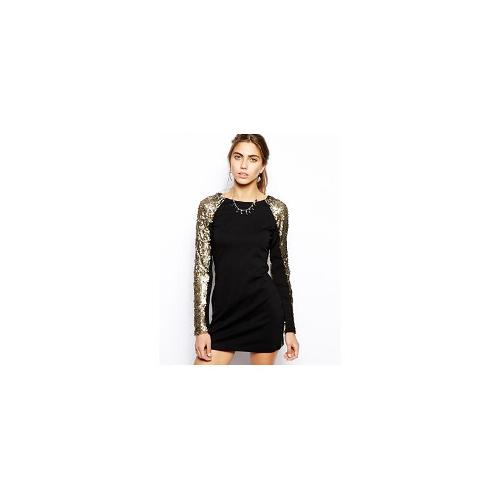 One Teaspoon Lucky Star Long Sleeve Dress - Bronze