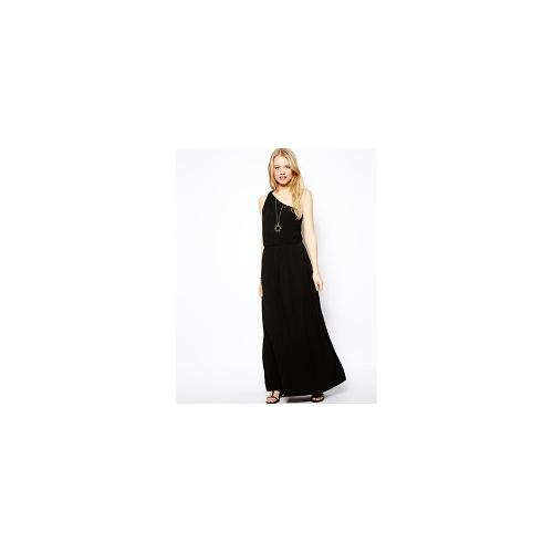 ASOS Maxi Dress With One Shoulder - Black