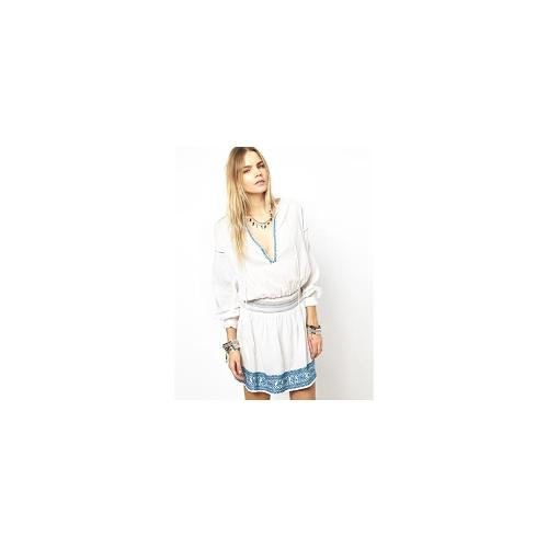 Zadig and Voltaire Rose Dress with Embroidered Waist - White