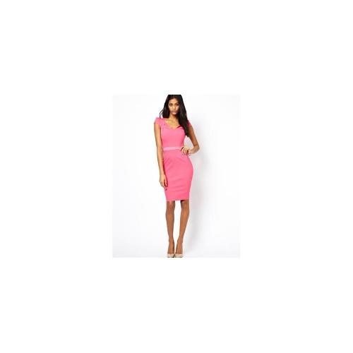 Hybrid Sweetheart Pencil Dress with Cap Sleeves