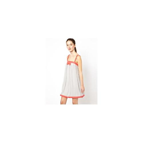 Traffic People Ribbons and Bow Dress in Silk