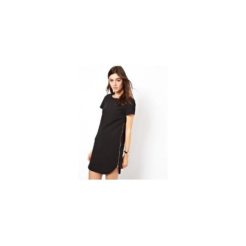 ASOS Clean Shift Dress With Zip Sides