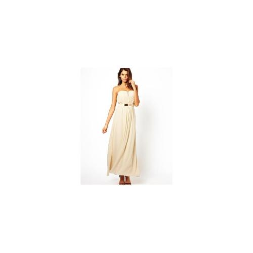 Little Mistress Bandeau Maxi Dress with Plate