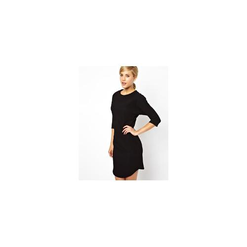 ASOS Pencil Dress In Texture With Batwing Sleeve - Black