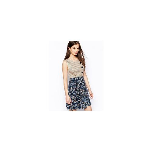 Traffic People Splendour In The Grass Military Dress - Blue