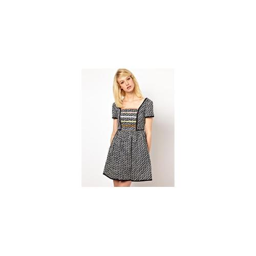 Orla Kiely Dress in Come Fly with Me Print - Ink