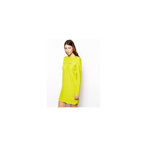 See by Chloe Pique Dress in Acid Green