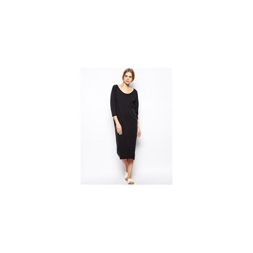 Selected Mallie Midi Dress in Jersey - Black