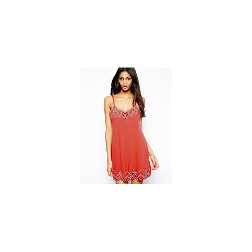 Lipsy Embellished Cami Dress with Cut Work