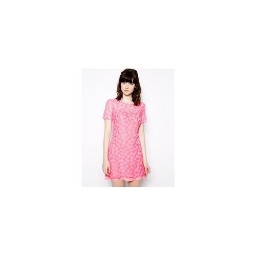 Nishe Allover Floral Lace Shift Dress