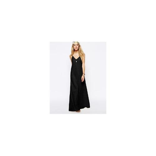 ASOS Maxi Dress in Lace - Black