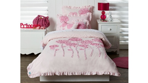 Rosy Single Quilt Cover Set