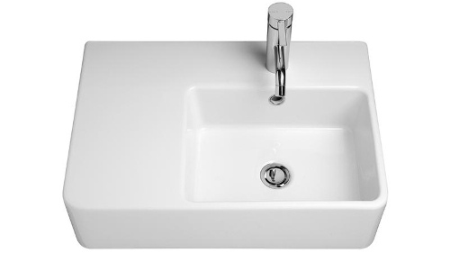Caroma Cube Extension Wall Basin with Left Hand Shelf