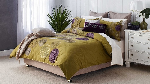 Zaria Green King Quilt Cover Set