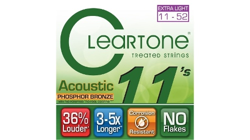 Cleartone Acoustic 11s Phosphor Bronze Strings