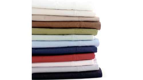 Linen House 300TC White Double Fitted Sheet