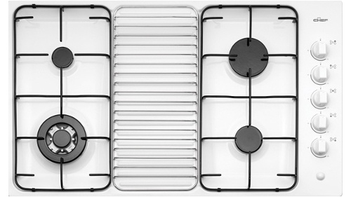 Chef GHS917W 4 Burner Gas Cooktop - White