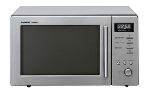 Sharp 800W Compact Microwave Oven with Stainless Steel Fascia