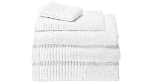 Linear Egyptian Cotton Face Washer - White