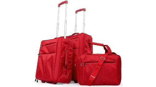 Cobb & Co Luggage Set of 3 - Soft Red