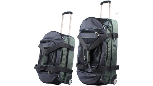Morrissey Wheeled Duffel Luggage Set of 2 - Charcoal