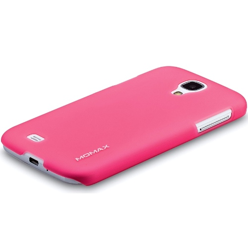 Momax Samsung S4 Clear Clip Case with Screen Protector - Pink