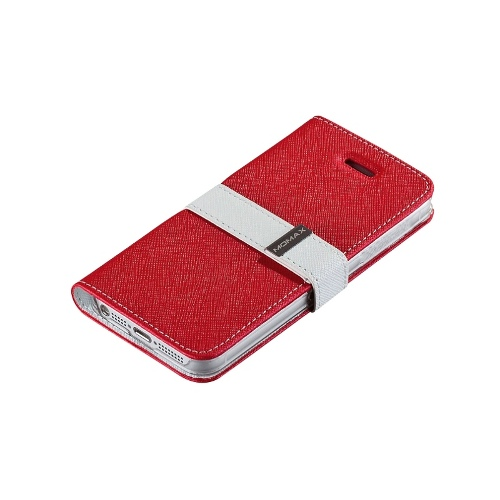 Momax Flip Diary for Apple iPhone 5 - Red