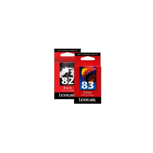 Lexmark Print Cartridge Twin Pack #82 - Black and #83 - Colour