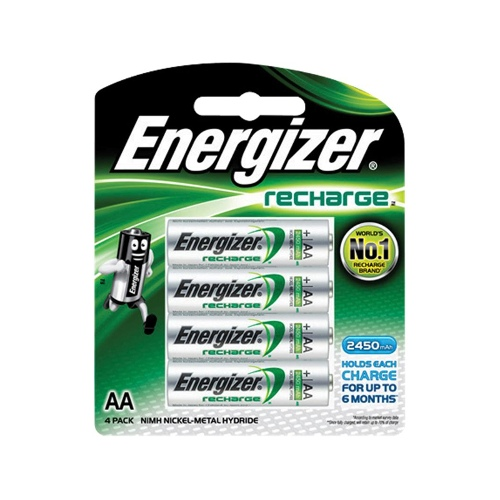 Energizer Rechargeable AA Battery 4 pack - 2450 mAh
