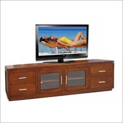 Bay Street - Casino 235 cm TV Unit No 1 with 4 Drawers and 2 Doors Colour: Warm Walnut - TV Units