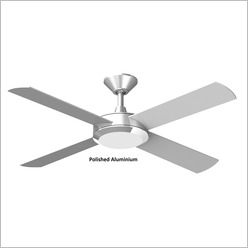 Hunter Pacific - Concept 2 Ceiling Fan with Timber Blades 52 Finish: Brushed Aluminium - Ceiling Fans