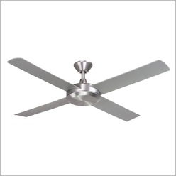 Hunter Pacific - ec02 Ceiling Fan Brushed Aluminium with Silver Moulded Blades - Ceiling Fans